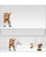 Briefumschläge Waldtiere Weihnachten / Winter